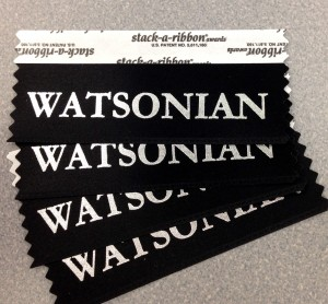 Watsonian badge ribbons
